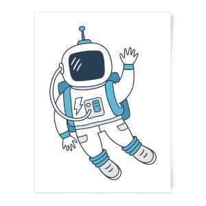 Astronaut Waving Art Print