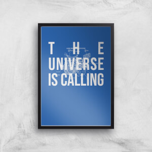 The Universe Is Calling Schematic Art Print