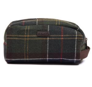 Barbour Men's Tartan Wool Wash Bag - Classic