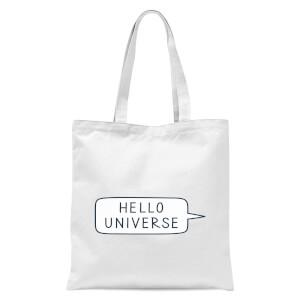 Hello Universe Tote Bag - White