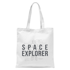 Space Explorer Schematic Tote Bag - White