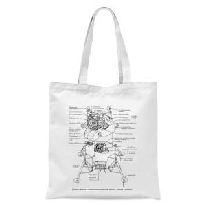 Lunar Schematic Tote Bag - White