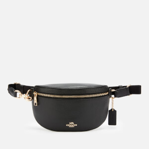 Coach Women's Polished Pebble Belt Bag - Black