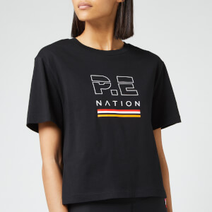 P.E Nation Women's Ignition Cropped Short Sleeve T-Shirt - Black