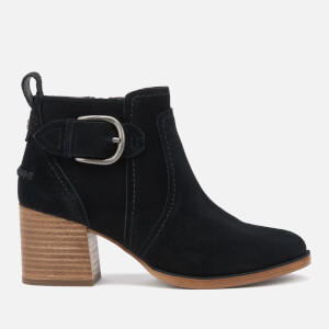 UGG Women's Leahy Buckle Heeled Ankle Boots - Black