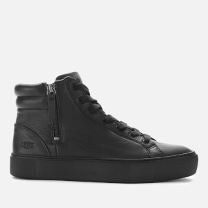 UGG Women's Olli Leather Hi-Top Trainers - Black