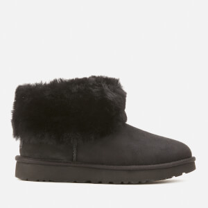 UGG Women's Classic Mini Exposed Sheepskin Boots - Black