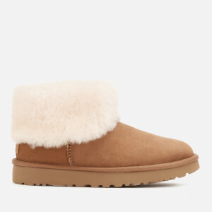 UGG Women's Classic Mini Exposed Sheepskin Boots - Chestnut