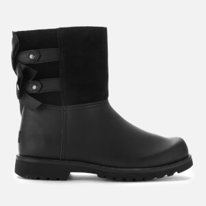 UGG Kids' Tara Leather Lace Back Boots - Black