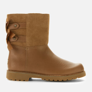 UGG Kids' Tara Leather Lace Back Boots - Chestnut
