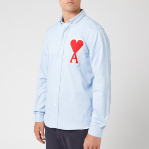 AMI Men's Oxford Long Sleeve Shirt - Bleu Ciel