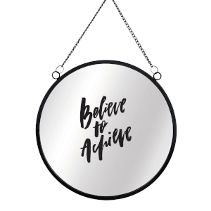 Believe To Achieve Circular Mirror