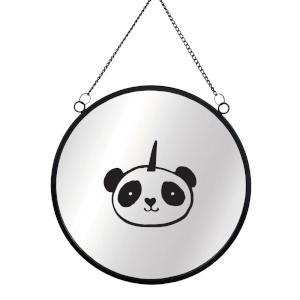 Panda Round Mirror & Vinyl Sticker