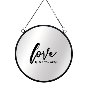 Love Is All You Need Circular Mirror