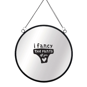 I Fancy The Pants Off You Round Mirror & Vinyl Sticker