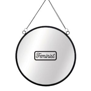 Feminist Round Mirror & Vinyl Sticker