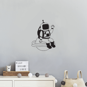 Astronaut On A Planet Wall Decal