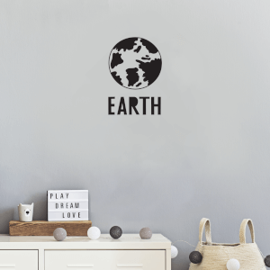 Earth Wall Art Vinyl