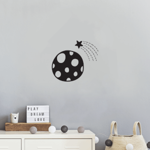 Polka Dot Planet Wall Decal