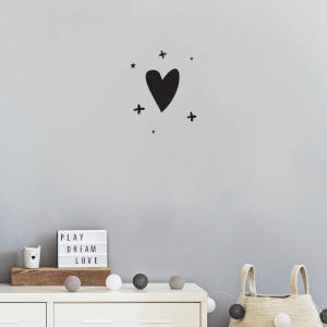Hearts And Crosses Wall Art Vinyl
