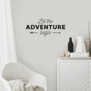 Let The Adventure Begin Wall Decal
