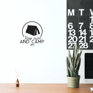 Keep Calm And Camp On Wall Decal