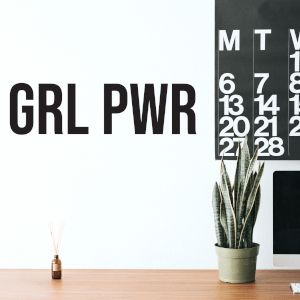 PWR GRL Wall Decal