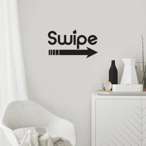 Swipe Right Wall Decal