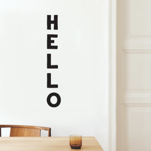 Hello Bold Wall Decal