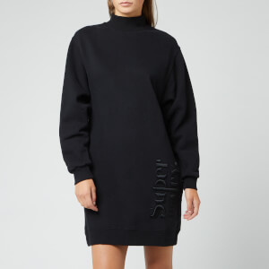 Superdry Women's Scandi High Neck Sweat Dress - Washed Black