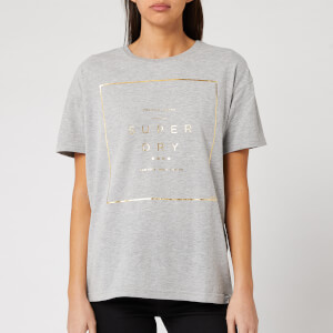 Superdry Women's Premium Box Portland T-Shirt - Grey Marl