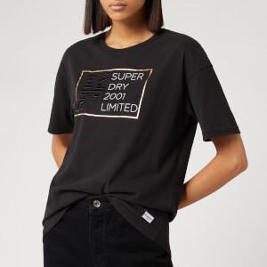 Superdry Women's Mila Oversized Graphic T-Shirt - Black