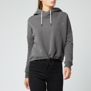 Superdry Women's Ol Elite Crop Hoody - Slate