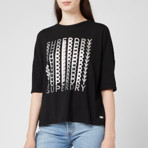 Superdry Women's Foil Graphic T-Shirt - Black