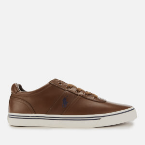 Polo Ralph Lauren Men's Hanford Leather Trainers - Tan