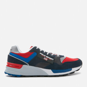 Polo Sport Ralph Lauren Men's Trackstar Runner Style Trainers - Navy/Rl2000 Red/Saphire Star