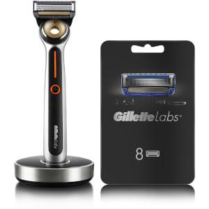 GilletteLabs Heated Razor For Men Starter Kit + 8 Blades