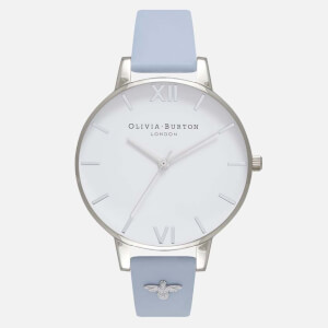 Olivia Burton Women's Embellished Strap Watch - Chalk Blue and Silver