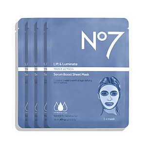 Lift & Luminate Triple Action Serum Boost Sheet Mask (4 Pack)