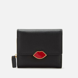 Lulu Guinness Women's Lip Saffie Wallet - Black