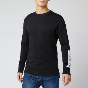 Calvin Klein Men's Logo Sleeve Sweatshirt - Black