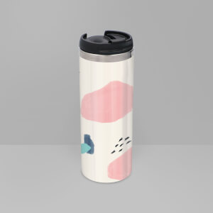Bubble And Dots Pattern Stainless Steel Travel Mug