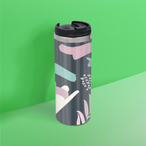 Dark Botanical Stainless Steel Travel Mug