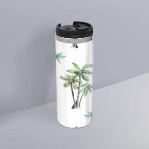 Palm Tree Pattern Stainless Steel Travel Mug