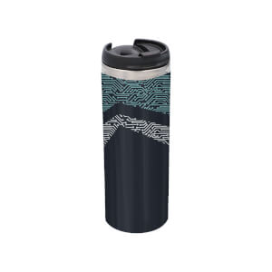 Motherboard Pattern Stainless Steel Thermo Travel Mug - Metallic Finish