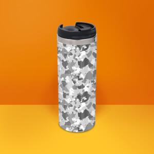 Grey Camo Stainless Steel Travel Mug