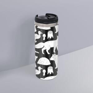 Animal Illustration Stainless Steel Travel Mug
