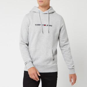 Tommy Jeans Men's Straight Logo Hoodie - Light Grey Heather