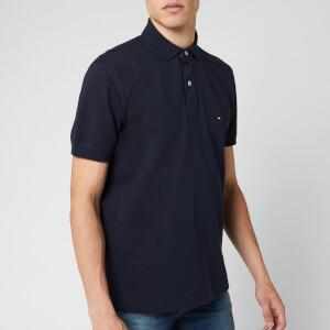 Tommy Hilfiger Men's Placket Polo Shirt - Sky Captain