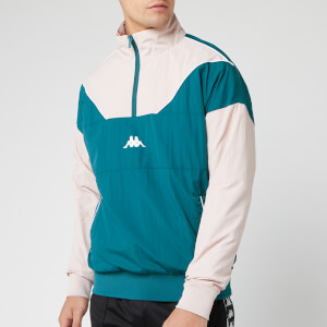 Kappa Men's Authentic 90 Balzac 1/4 Zip Jacket - Petrol/Pink